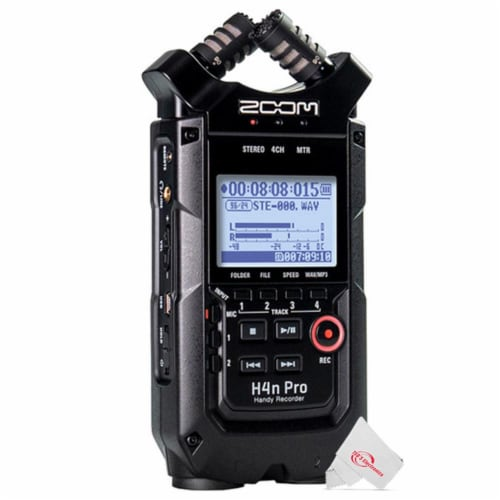 Zoom H4n Pro 4-input / 4-track Digital Portable Audio Handy Recorder Perspective: front