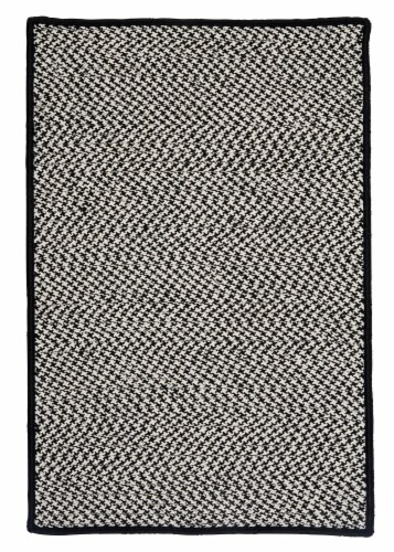 Colonial Mills Outdoor Houndstooth Tweed Rugs - Black Perspective: front