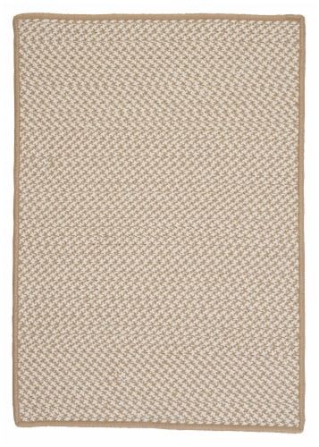 Colonial Mills Outdoor Houndstooth Tweed Rugs - Cuban Sand Perspective: front