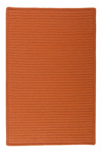 Colonial Mills Simply Home Solid Rugs - Rust Perspective: front