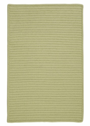 Colonial Mills Simply Home Solid Rugs - Celery Perspective: front