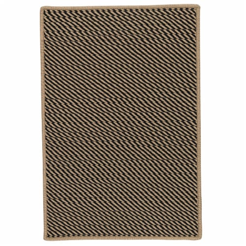 Colonial Mills Point Prim Area Rug - Black Perspective: front