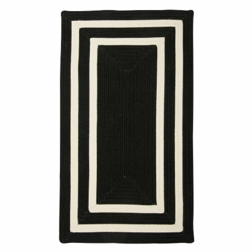 Colonial Mills La Playa Rug - Black/White Perspective: front