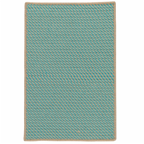 Colonial Mills Point Prim Area Rug - Teal Perspective: front
