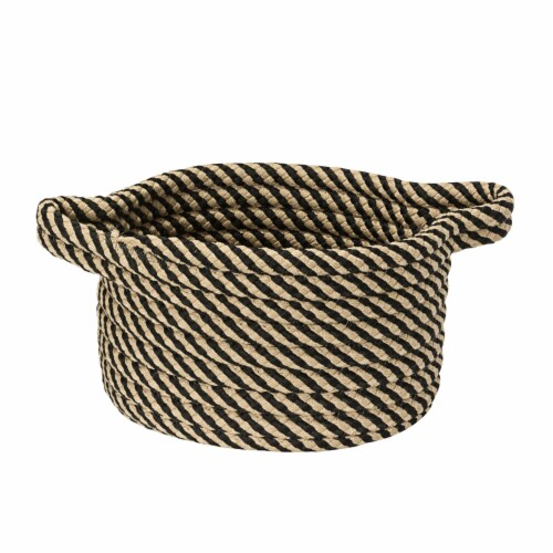 Colonial Mills Twisted Isle Basket - Black Perspective: front