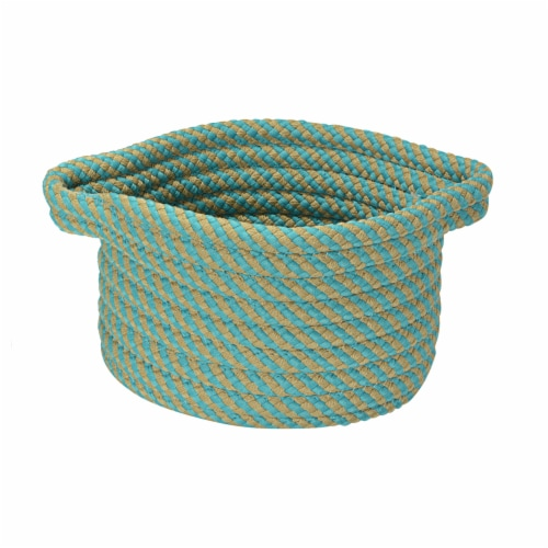 Colonial Mills Twisted Isle Basket - Blue Perspective: front