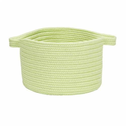 Colonial Mills Lifestyle Texture Solid Basket - Celery Perspective: front