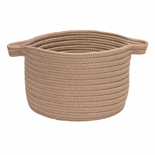 Colonial Mills Lifestyle Texture Solid Basket - Mocha Perspective: front