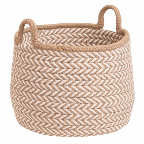 Colonial Mills Preve Basket - Taupe/White Perspective: front