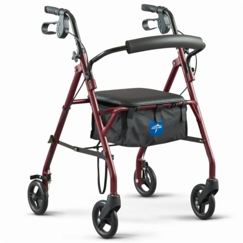 Medline Steel Rollator Walker Perspective: front