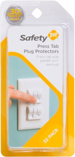 Safety 1st Press Tab Plug Protectors - White Perspective: front
