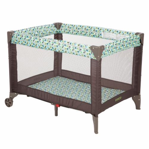 Cosco Funsport Portable Compact Baby Toddler Play Yard w/Wheels, Elephant Square Perspective: front