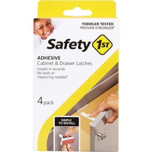 Safety 1st White Plastic Cabinet Catches 4 pk - Case Of: 1; Perspective: front