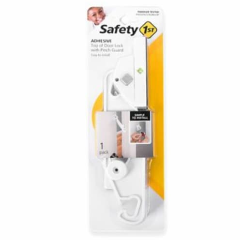 Safety 1st White Plastic Adhesive Top Door Lock 1 pk - Case Of: 1; Perspective: front