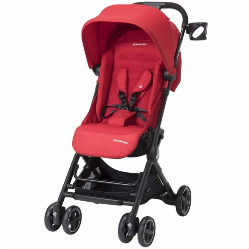 Maxi-Cosi Lara Travel Easy Fold Lightweight Canopy Baby Stroller, Nomad Red Perspective: front