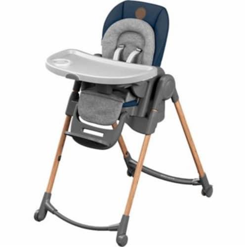 Maxi-Cosi Minla 6-in-1 Indoor Adjustable Children's High Chair, Essential Blue Perspective: front