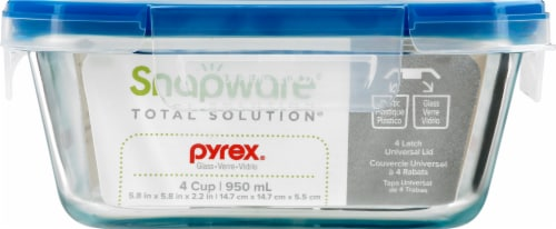Snapware Total Solution™ Glass Square Storage Container Perspective: front