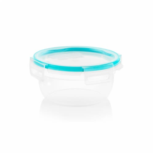 Snapware Total Solution Covered Plastic Round Food Storage Container - Clear Perspective: front