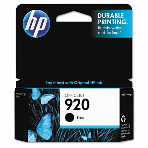 HP 920 Original Ink Cartridge - Black Perspective: front