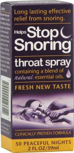 Essential Health  Helps Stop Snoring® Throat Spray Perspective: front