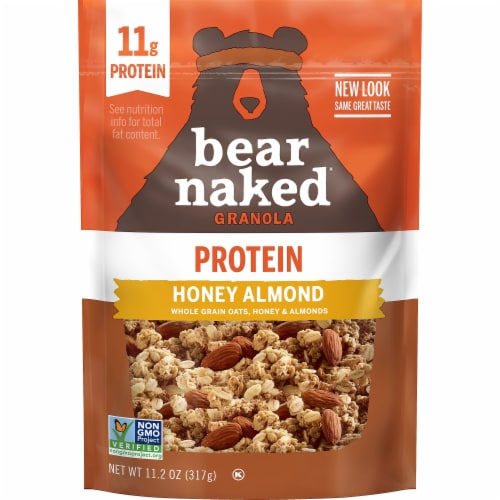 Bear Naked Honey Almond 100% Natural Granola Perspective: front