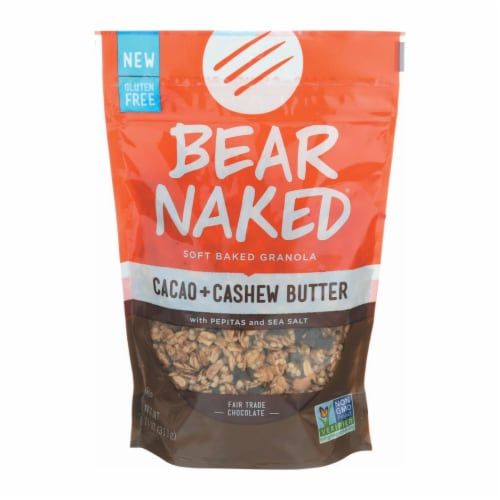 Bear Naked Granola - Cacao Cashew Butter - Case of 6 - 11 oz. Perspective: front