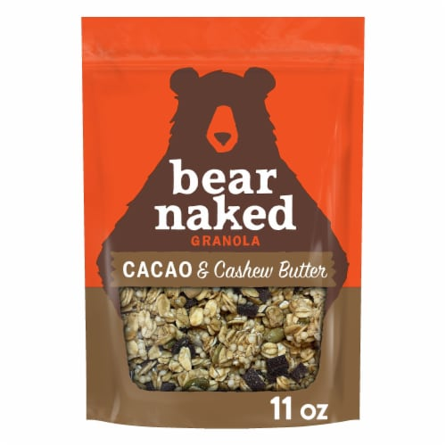 Bear Naked Cacao & Cashew Butter Granola Perspective: front