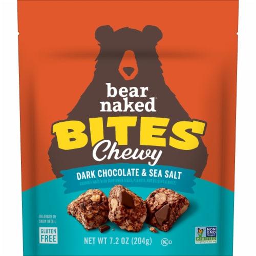 Bear Naked Dark Chocolate & Sea Salt Gluten Free Granola Bites Perspective: front