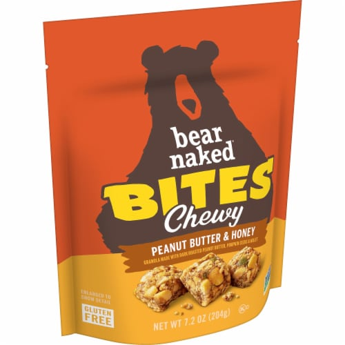 Bear Naked Peanut Butter & Honey Gluten Free Granola Bites Perspective: front