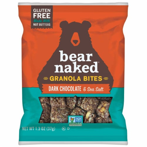 Bear Naked Dark Chocolate and Sea Salt Granola Bites, 1.3 Ounce -- 50 per case. Perspective: front