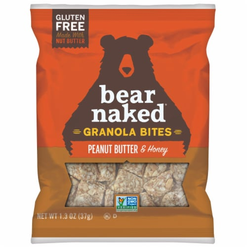Bear Naked Peanut Butter and Honey Granola Bites, 1.3 Ounce -- 50 per case. Perspective: front