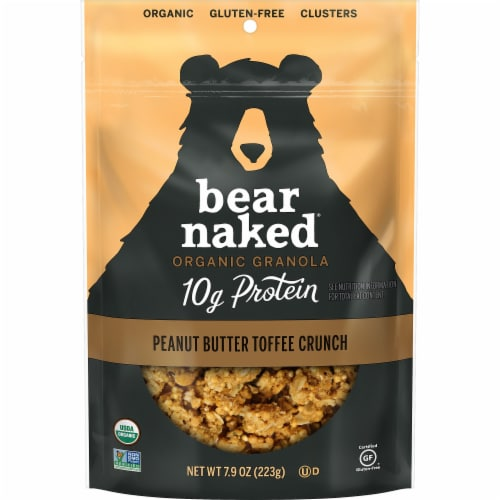 Bear Naked Organic Peanut Butter Toffee Crunch Granola Perspective: front