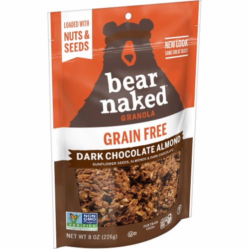 Bear Naked Grain Free Dark Chocolate Almond Granola Perspective: front