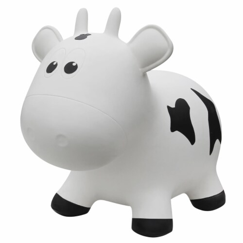 Farm Hoppers Inflatable Bouncing White Cow Perspective: front