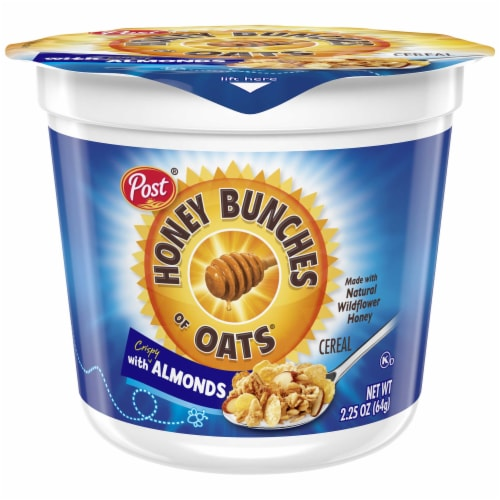 Honey Bunches of Oats Almond Cereal Cup, 2.25 Ounce -- 12 per case. Perspective: front