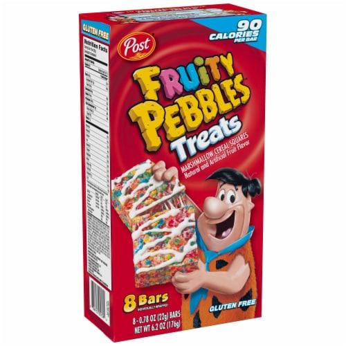 Post Fruity Pebbles Treats - 8 pieces per pack -- 8 packs per case. Perspective: front