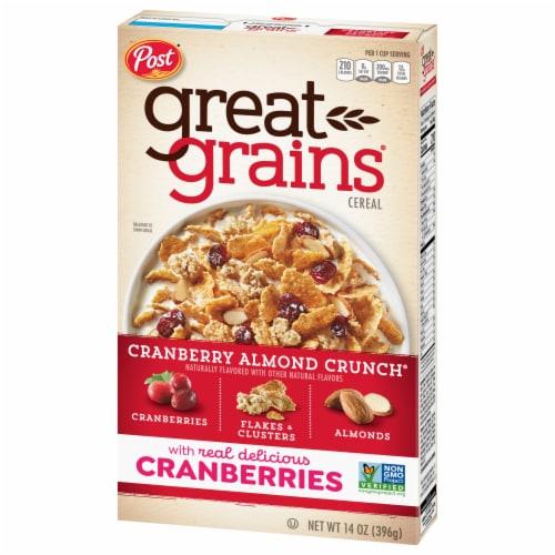 Post Great Grains Cranberry Almond Crunch Cereal Perspective: front