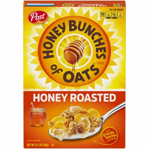 Honey Bunches of Oats Honey Roasted Cereal Perspective: front