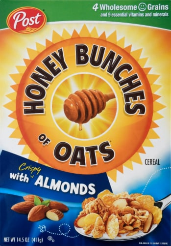Honey Bunches of Oats with Almonds Cereal Perspective: front