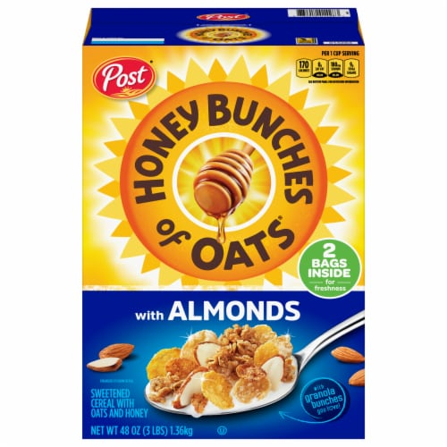 Honey Bunches of Oats with Almonds Cereal 2 Count Perspective: front