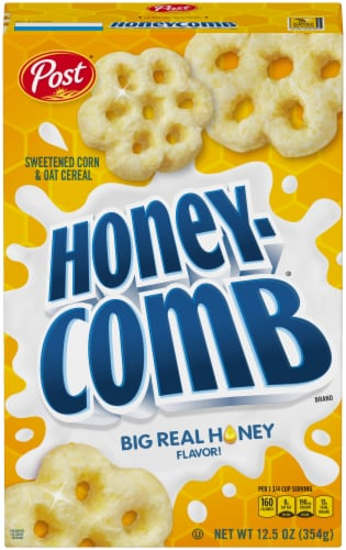 Post Honeycomb Cereal Perspective: front