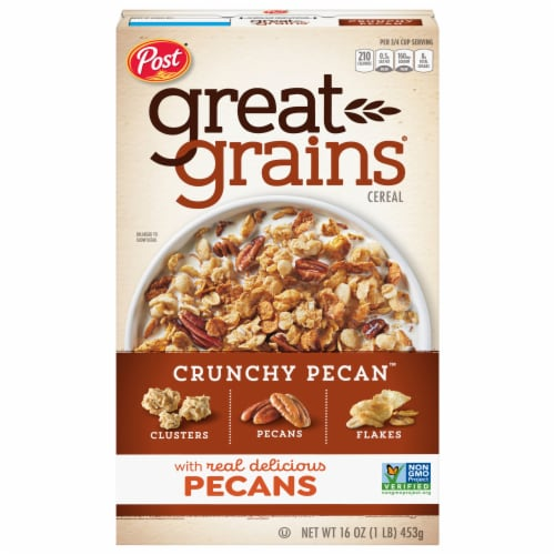 Post Great Grains Crunchy Pecan Cereal Perspective: front