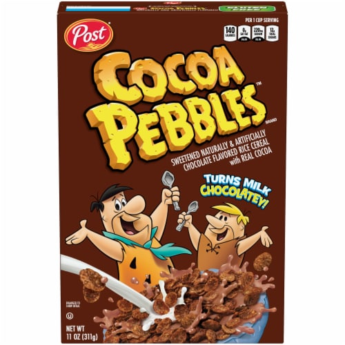 Post® Cocoa Pebbles™ Chocolate Flavored Rice Cereal Perspective: front