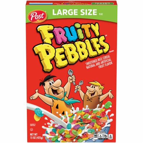 Post Fruity Pebbles Cereal Perspective: front