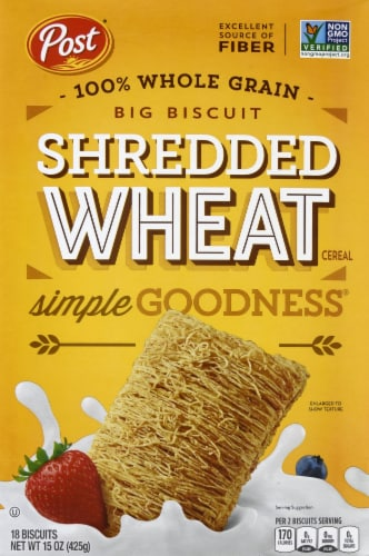 Post Big Biscuit Shredded Wheat Cereal Perspective: front