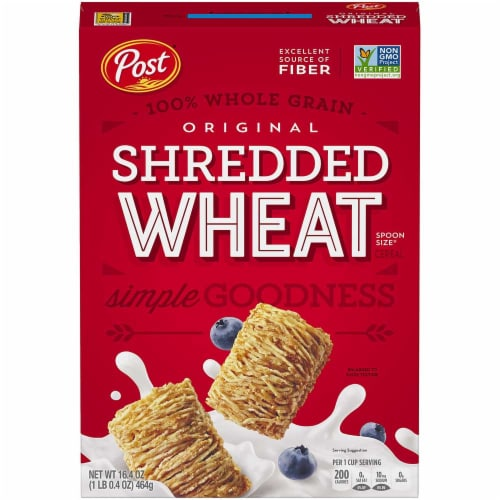 Post Spoon Size Shredded Wheat Cereal, 16.4 Ounce -- 6 per case. Perspective: front