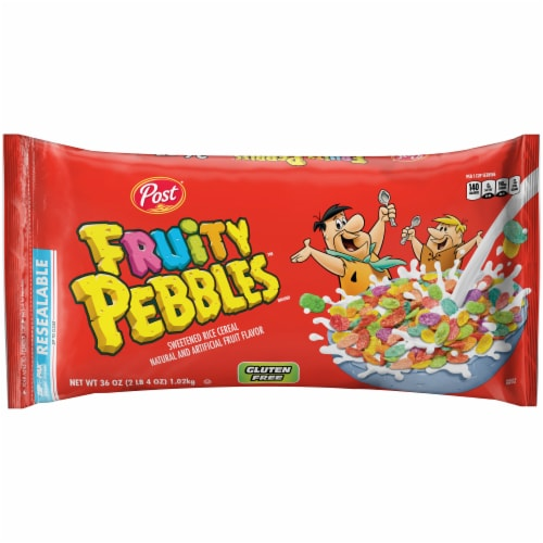 Fruity Pebbles Sweetened Rice Cereal Perspective: front