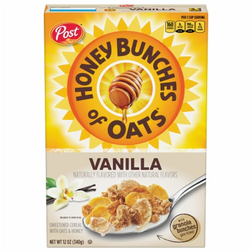 Honey Bunches of Oats® Vanilla Granola Cereal Perspective: front