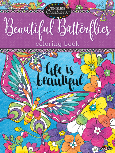 Cra-Z-Art Timeless Creations Beautiful Butterflies Coloring Book Perspective: front