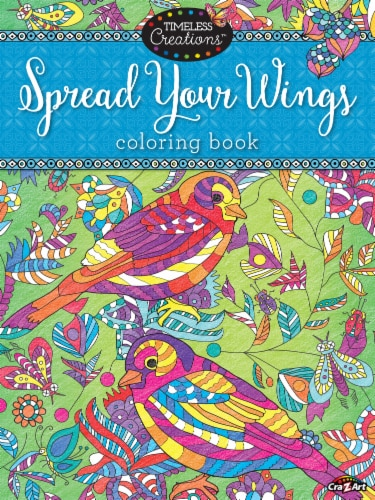 CRA-Z-ART Timeless Creations Spread Your Wings Coloring Book Perspective: front